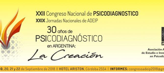 XXII Congreso Nacional de Psicodiagnóstico y XXIX Jornadas Nacionales de ADEIP
