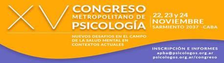XV Congreso Metropolitano de Psicología