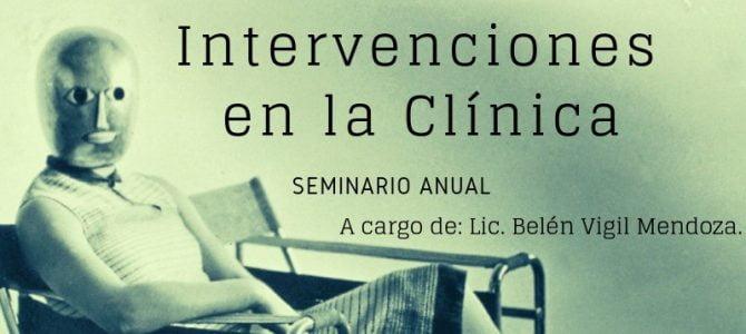 """Seminario Anual """"Intervenciones en la Clínica"""""""