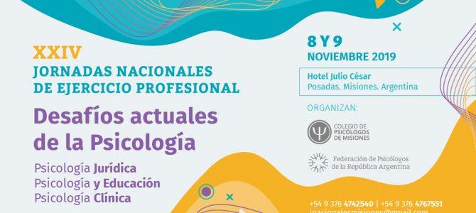 """XXIV Jornadas Nacionales de Ejercicio Profesional: """"Desafíos actuales de la Psicología"""""""