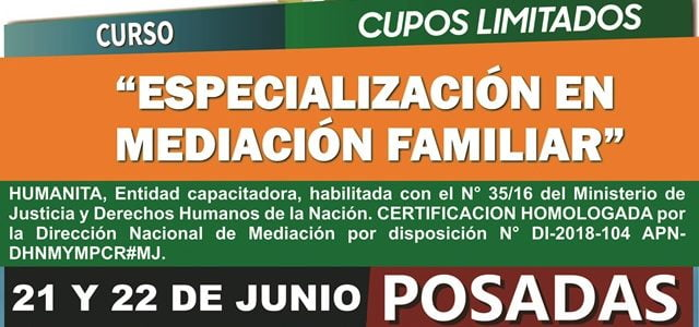 "Curso ""Especialización en Mediación Familiar"""