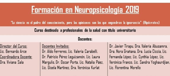 Curso de Neuropsicología (modalidad videoconferencia)